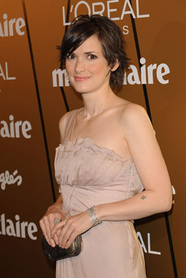 Actress Winona Ryder attends Marie Claire Prix de la Mode 2008 ceremony at the French Ambassador's residence on November 20, 2008 in Madrid, Spain.